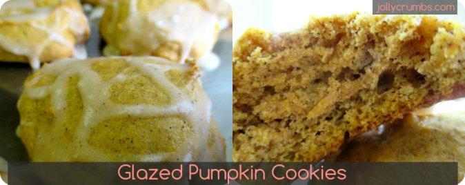 Glazed Pumpkin Cookies | jollycrumbs.com