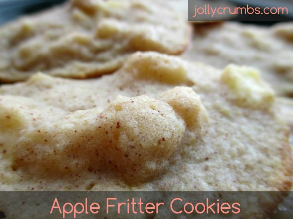 Apple Fritter Cookies | jollycrumbs.com
