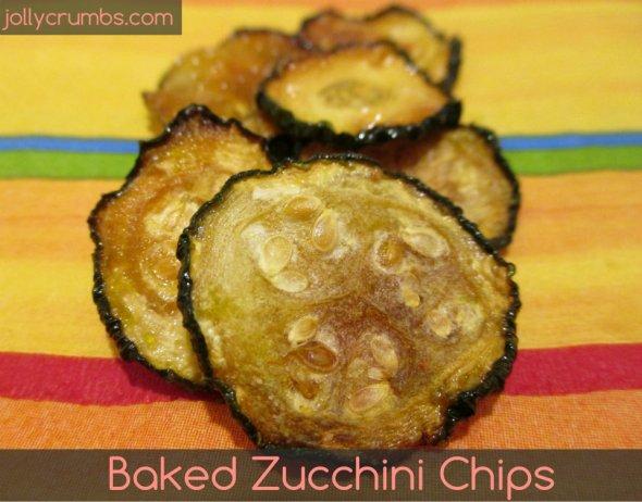 Baked Zucchini Chips | jollycrumbs.com