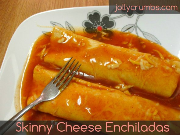 Skinny Cheese Enchiladas | jollycrumbs.com