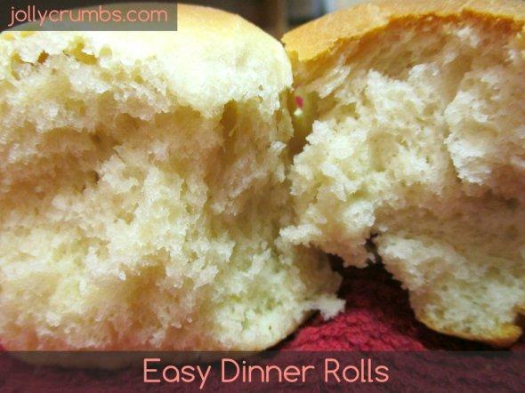 Easy Dinner Rolls   jollycrumbs.com