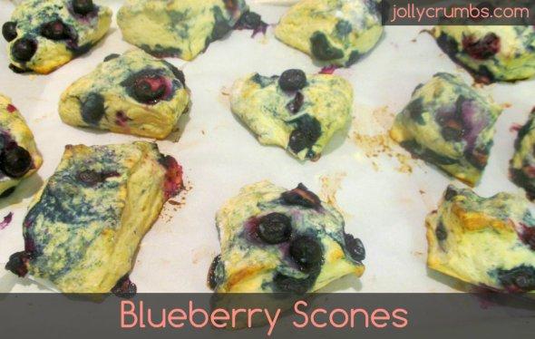 Blueberry Scones | jollycrumbs.com