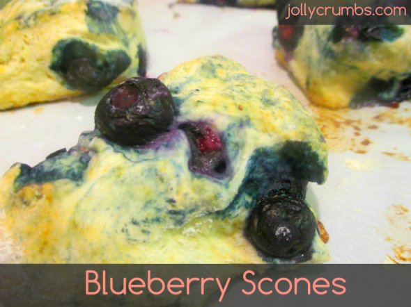 Blueberry Scones | jollycrumbs.com
