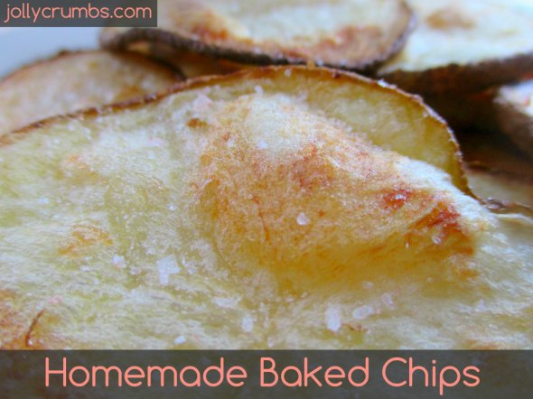 Homemade Baked Chips | jollycrumbs.com