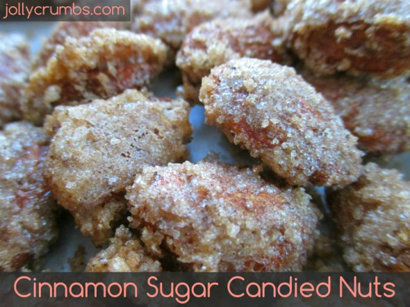 Cinnamon Sugar Candied Nuts | jollycrumbs.com