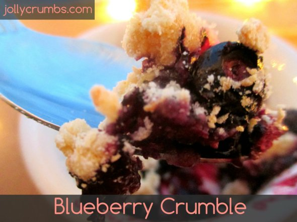 Blueberry Crumble | jollycrumbs.com