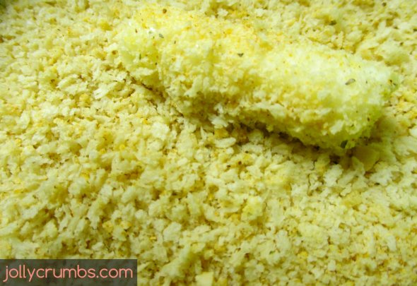 Baked Mozzarella Sticks   jollycrumbs.com