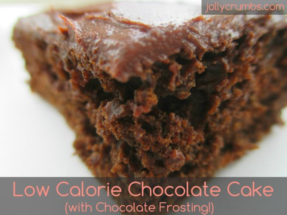 Low Calorie Chocolate Cake (with Chocolate Frosting!) | jollycrumbs.com