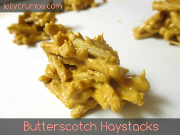 Butterscotch Haystacks | jollycrumbs.com