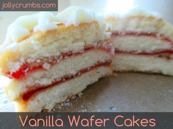 Vanilla Wafer Cakes | jollycrumbs.com