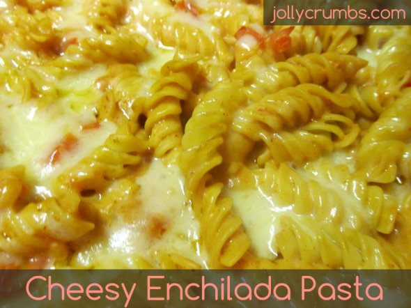 Cheesy Enchilada Pasta | jollycrumbs.com
