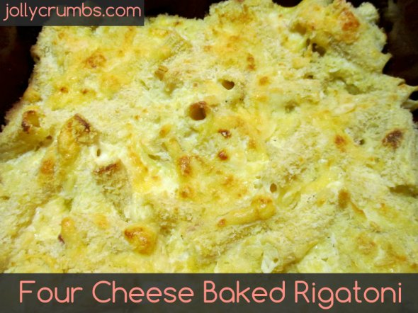 Four Cheese Baked Rigatoni | jollycrumbs.com