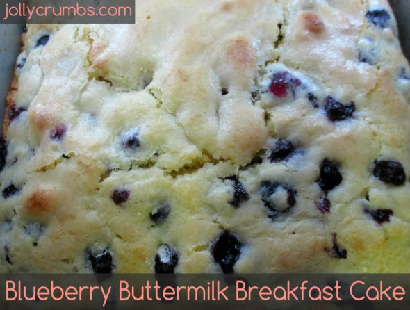 Blueberry Buttermilk Breakfast Cake | jollycrumbs.com