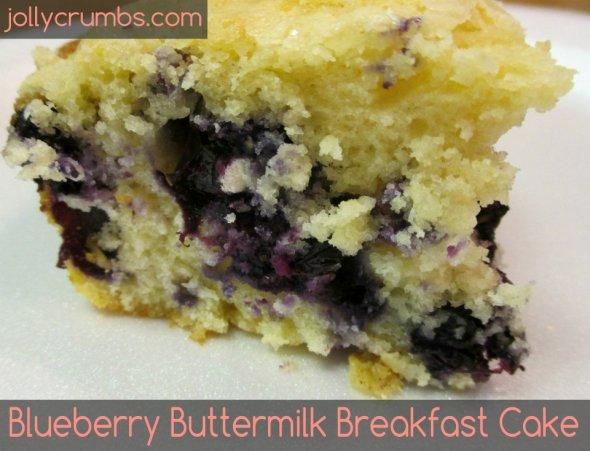 Blueberry Buttermilk Breakfast Cake | jollycrumbs.com