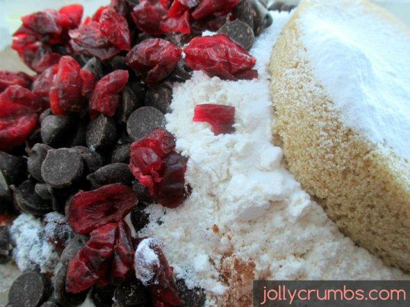 Pumpkin, Chocolate, & Cranberry Oatmeal Cookies   jollycrumbs.com