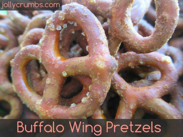 Buffalo Wing Pretzels | jollycrumbs.com