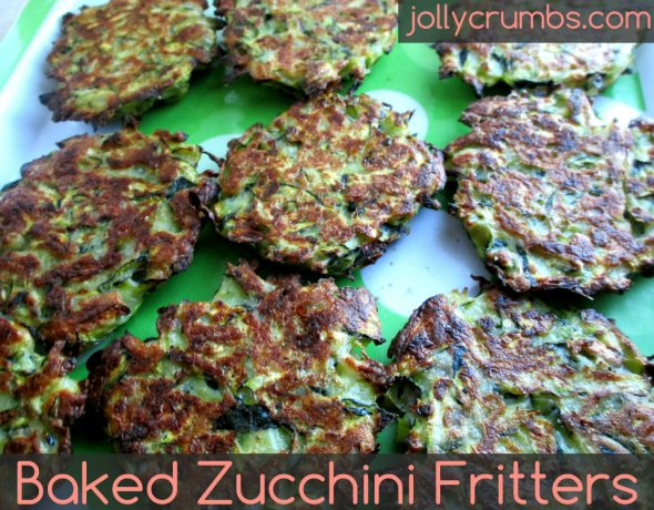 Baked Zucchini Fritters | jollycrumbs.com