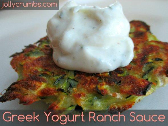 Greek Yogurt Ranch Sauce | jollycrumbs.com