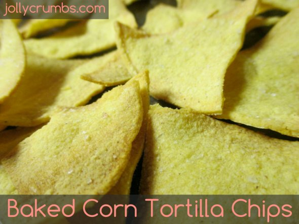 Baked Corn Tortilla Chips | jollycrumbs.colm