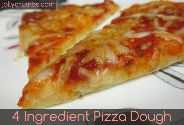 4 Ingredient Pizza Dough | jollycrumbs.com