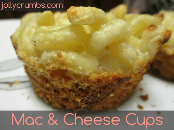 Mac & Cheese Cups | jollycrumbs.com