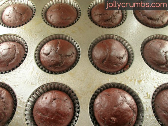 Skinny Chocolate Cupcakes | jollycrumbs.com