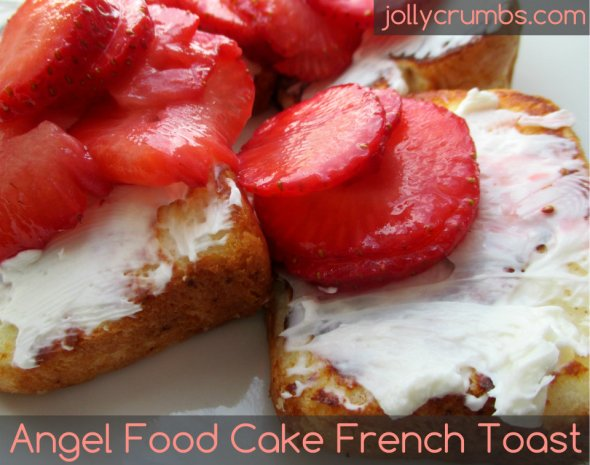 Angel Food Cake French Toast | jollycrumbs.com