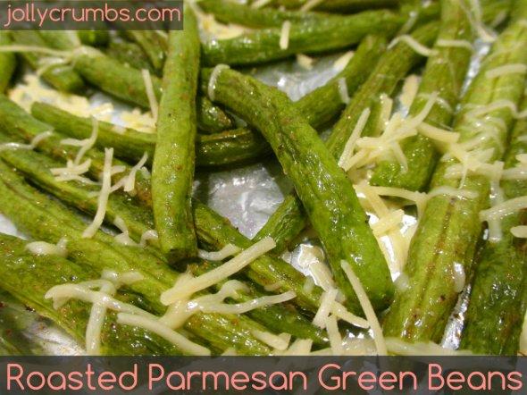 Roasted Parmesan Green Beans | jollycrumbs.com