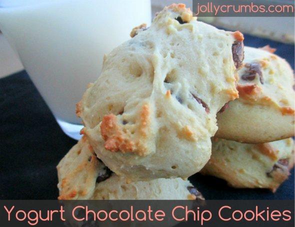 Yogurt Chocolate Chip Cookies | jollycrumbs.com