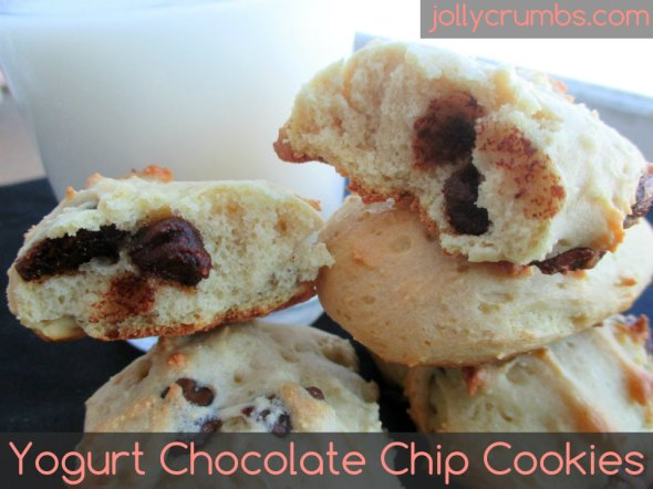 Yogurt Chocolate Chip Cookies | jollycrumbs.com