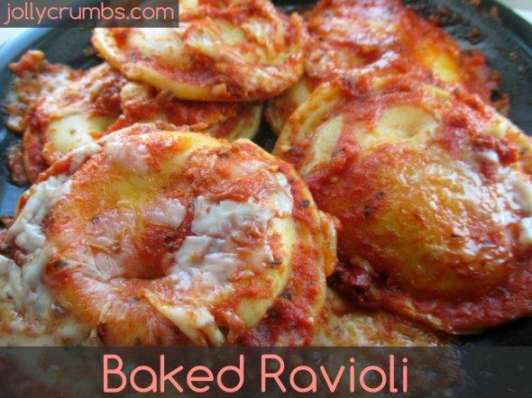 Baked Ravioli | jollycrumbs.com
