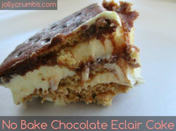 No Bake Chocolate Éclair Cake | jollycrumbs.com