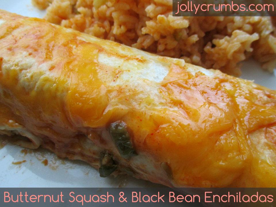 Butternut Squash & Black Bean Enchiladas | jollycrumbs.com