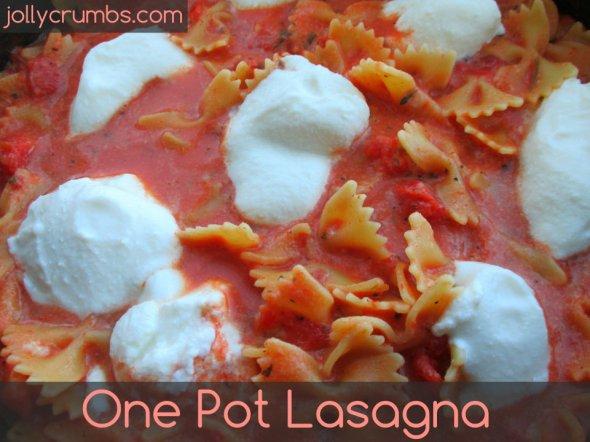One Pot Lasagna | jollycrumbs.com