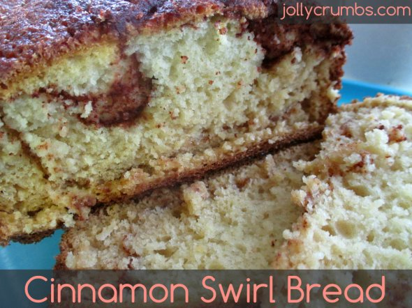Cinnamon Swirl Bread | jollycrumbs.com