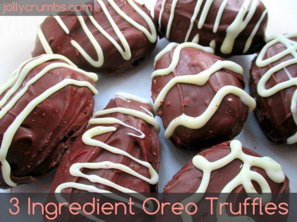 3 Ingredient Oreo Truffles | jollycrumbs.com