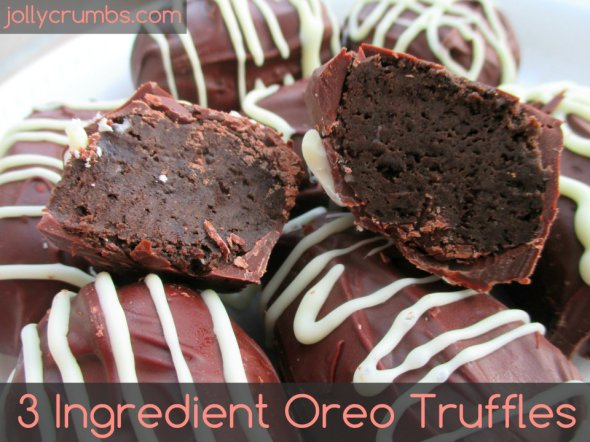 3 Ingredient Oreo Truffles | jollycrumbs.com