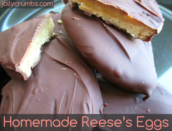 Homemade Reese's Eggs | jollycrumbs.com
