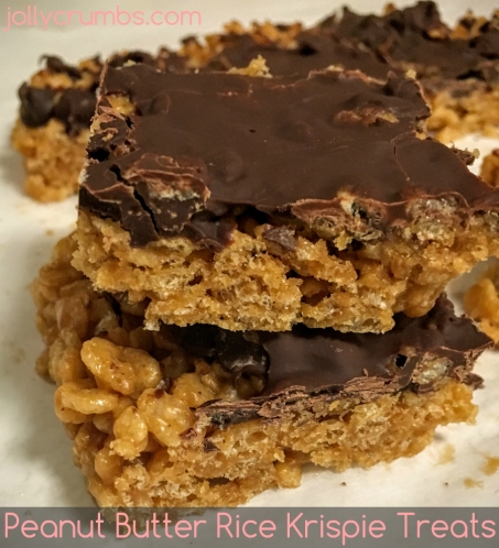 Peanut Butter Rice Krispie Treats @ jollycrumbs.com