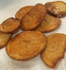 Easy fried potato chips